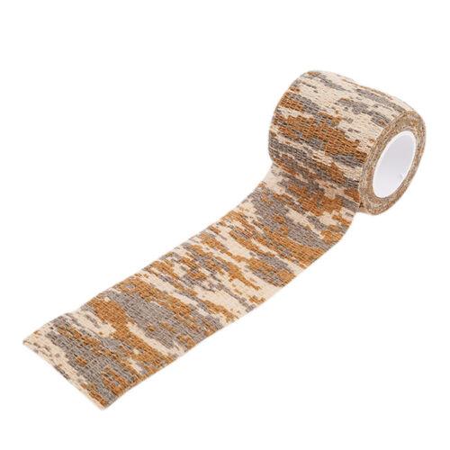 Non-woven Camouflage Self-adhesive Tape Wrap Rifle Gun Hunting Camo Tape MP