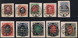 Danzig Koggenausgabe #53-62/o gestempelt Ersttag! 31.1.1921 - Leipzig, Deutschland - Danzig Koggenausgabe #53-62/o gestempelt Ersttag! 31.1.1921 - Leipzig, Deutschland