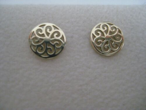 Gold stud earrings 9 carat yellow gold