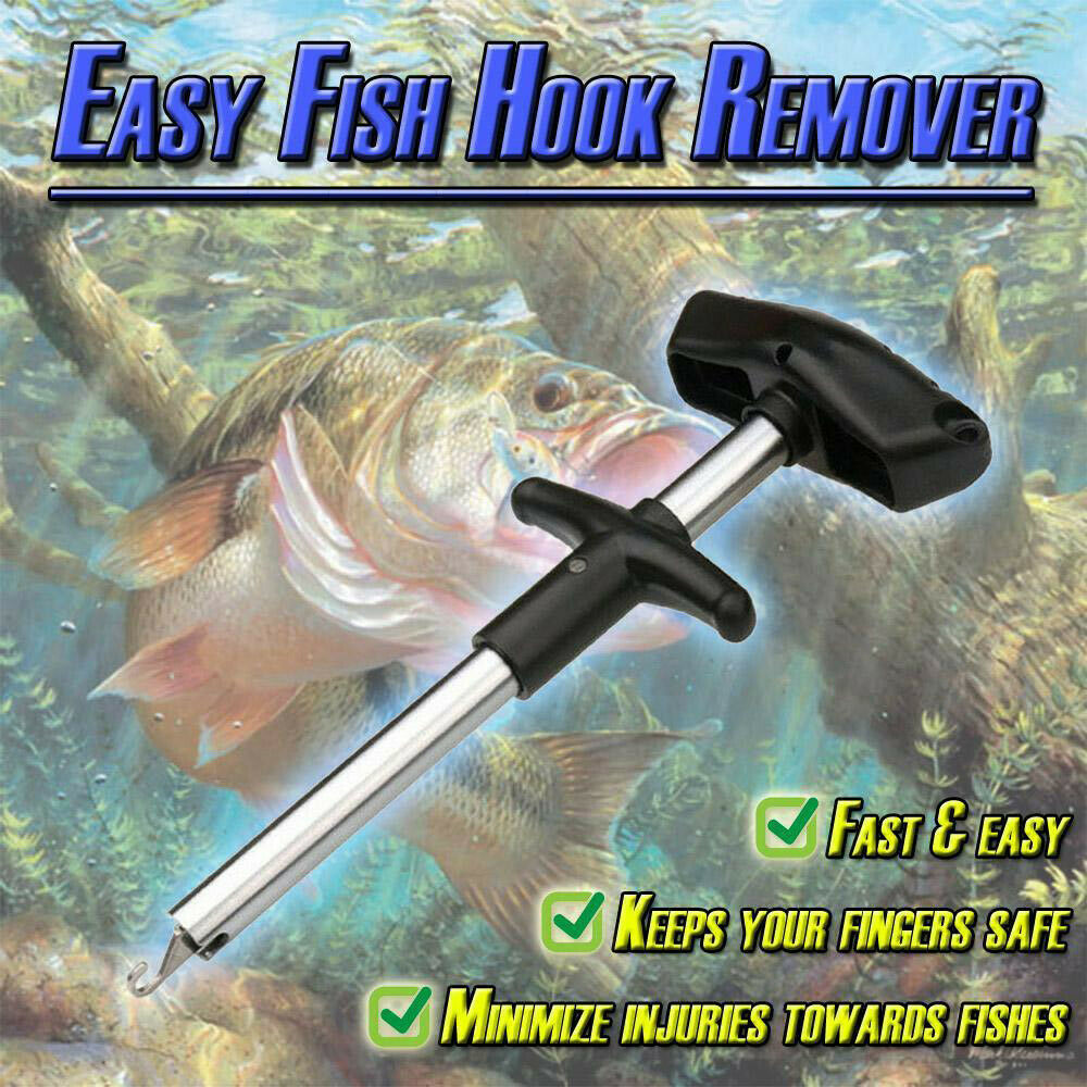 Easy Fish Hook Remover Puller Fishing Tool T-Handle Extractor Tackles Detacher 3