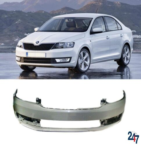 NEW SKODA RAPID 2012-2016 FRONT BUMPER WITH FOG LIGHT HOLES
