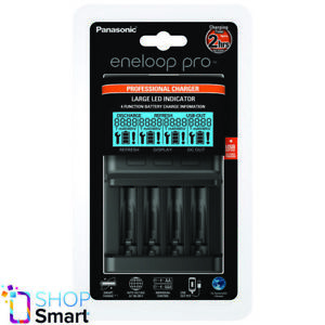 PANASONIC-ENELOOP-PROFESSIONAL-CHARGER-BQ-CC65-LED-USB-AC100-240V-50-60Hz-NEW