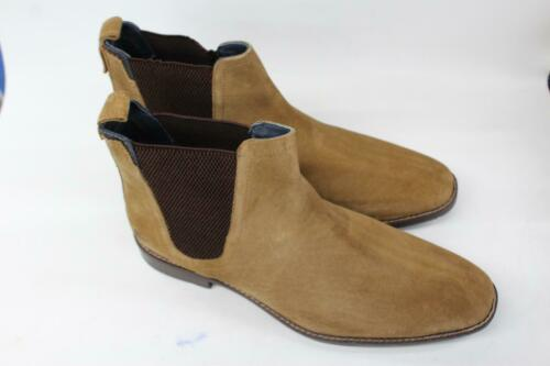 GOODWIN SMITH Men/'s Finchley Tan Brown Suede Chelsea Ankle Boots UK10 EU44 NEW
