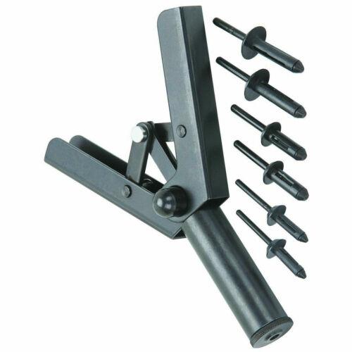 41Pcs Assorted Plastic Riveter Rivet Gun Quick Set Hand Tool W// 40 Poly Rivets