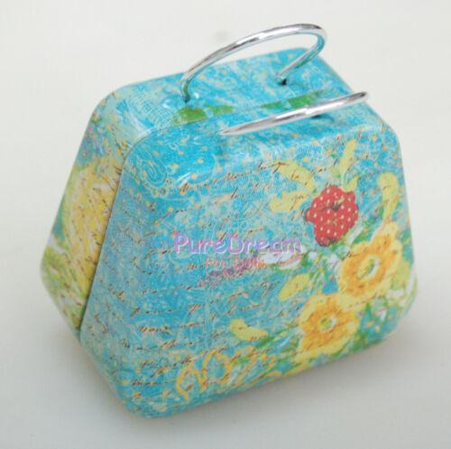 Nice Blue Metal Handbag Bag Trunk Box for 1//6 Dolls
