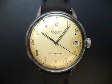 Elgin 885 Men's Automatic Selfwinding Watch Full Size 17 j. Swiss Runs for Parts