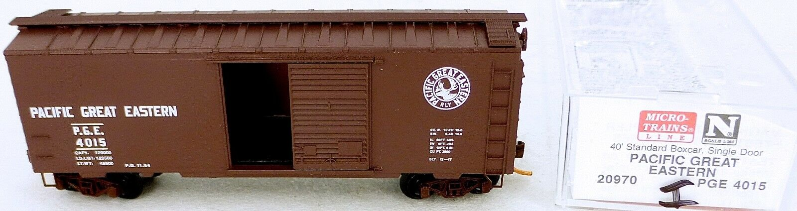 40´ St Boxcar Pacific Great Eastern 4015 Micro Trains Line 20970 i n 1 160 d å