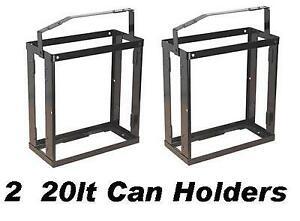 2 x 20lt Metal Jerry Gerry Can Holder Frame fuel Carrier petrol diesel 20 lt