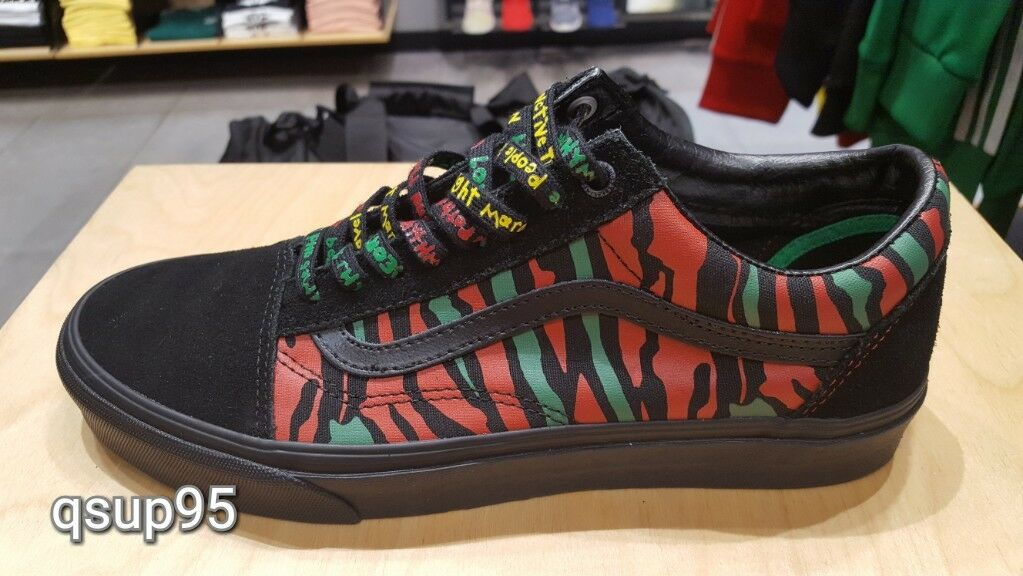 Vans Old Skool A Tribe Called Quest Pack ATCQ Black Red Green Size 4-13 New