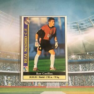 Card Mundicromo Liga Rookie Rc Iker Casillas #512 Réal Madrid No Panini