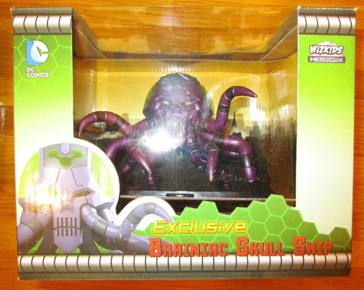 SDCC 2015 NECA DC HeroClix Braniac Skull Ship Figure EXCLUSIVE Limited Edition