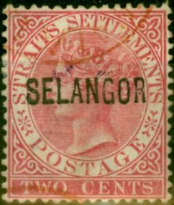 Selangor 1885 2c Pale Rose SG31 Fine Used (2)
