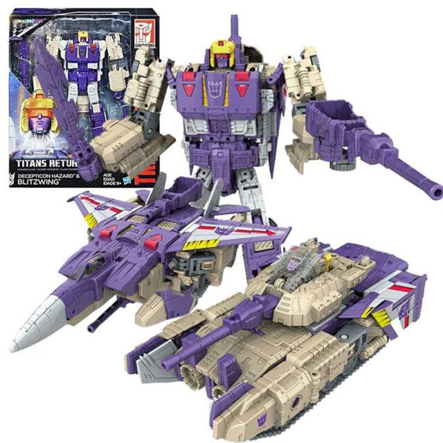 Transformers Titans Return Voyager DECEPTICON HAZARD & BLITZWING Regalo Gift Toy
