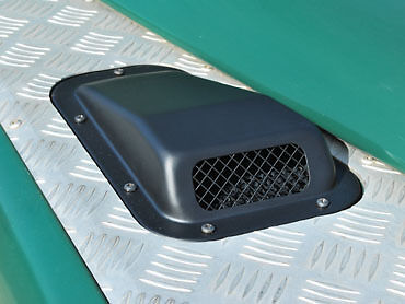 Land Rover Defender Left Hand Wing Top  Metal Air Intake Scoop and Grille DA400