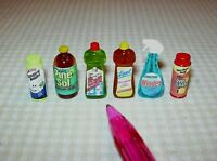 Miniature Cleaning Assortment (6) For The Dollhouse Miniatures 1/12 Scale