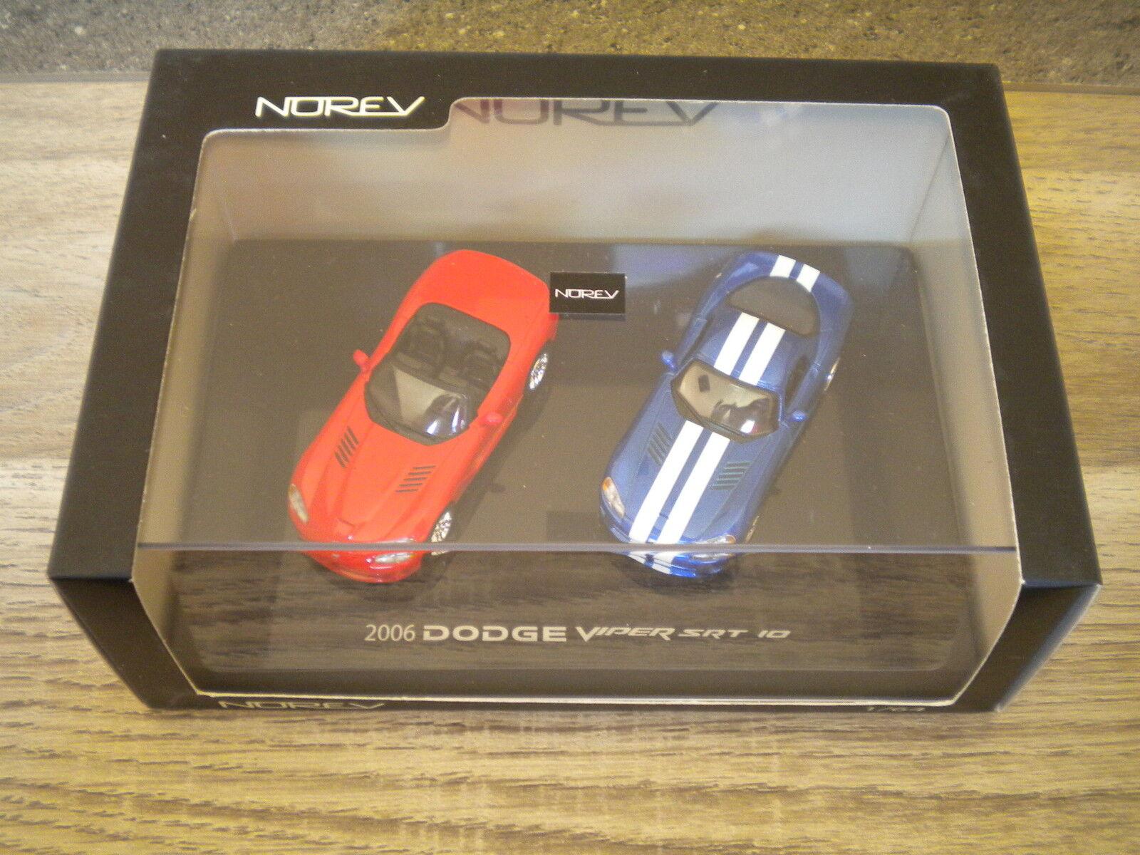 Norev dodge viper srt 10 boîte plexiglas 2006   2 voitures 1   64 °