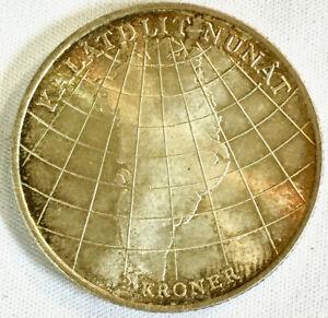 1953-H-Denmark-2-Kroner-Commemorative-for-Greenland-Against-Tuberculosis