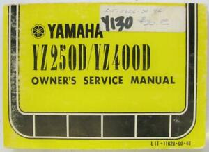 YAMAHA-YZ250D-YZ400D-1978-LIT-11626-00-46-Motorcycle-Owners-Handbook