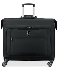 440-Delsey-Helium-360-Trolley-Suiter-Garment-Bag-Luggage-Suitcase-Black-Spinner