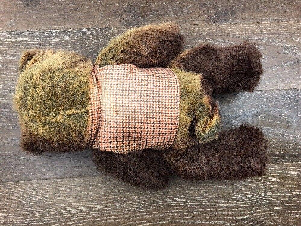 Vintage Robert Raikes Wood Face Collectible Teddy Teddy Teddy Bear 31dc8a