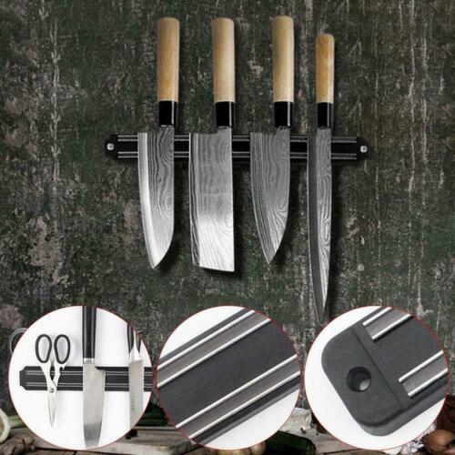 Magnetische Messerhalter Wandhalterung Schwarz PP Kunststoff Block Lagerung Supe