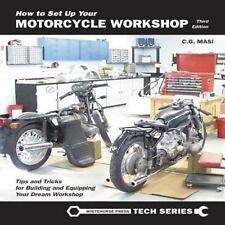 How to Set up Your Motorcycle Workshop Book~Building~Equipping~Lighting~Air~NEW