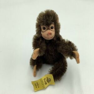 Miniature-Steiff-Sitting-Jocko-Monkey-4-Chimpanzee-0020-11-F-Austria-Plush