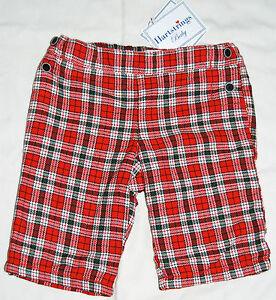 Infant boys lined christmas red plaid dress pants free ship ebay