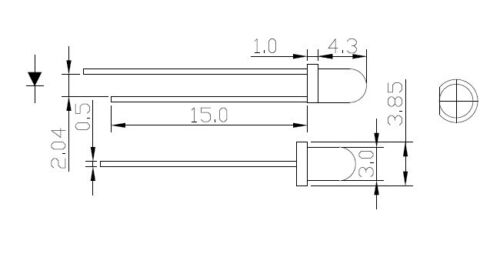 100pcs LED 3mm Diffused White-Orange Round Top F3 DIP Light Emitting Diode LED