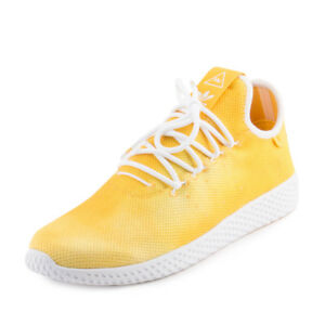 704f31f4a77c7 Adidas Mens PW HU HOLI Tennis HU Pharrell Williams Yellow White ...