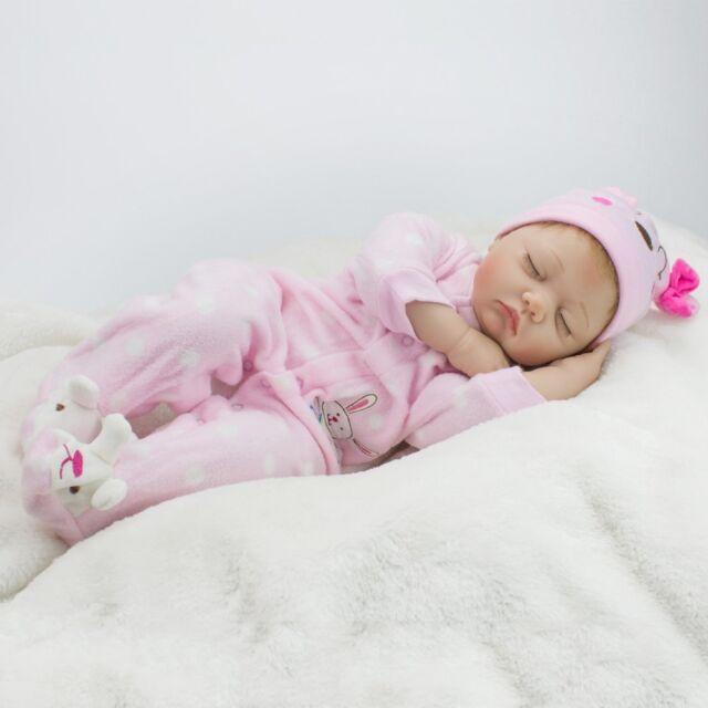 "22"" REALISTIC REBORN DOLL BABY SOFT SILICONE VINYL NEWBORN BABY DOLL XMAS GIFT"