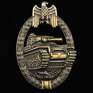 WWII-WW2-German-1957-Panzer-Assault-Badge-in-Bronze-Army-Military-Order-Medal