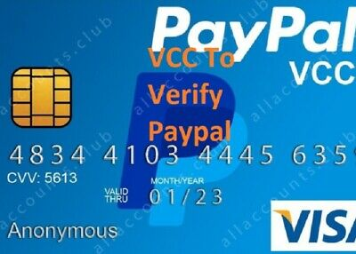 Updates VCC Virtual Credit Card For Paypal Verification works worldwide