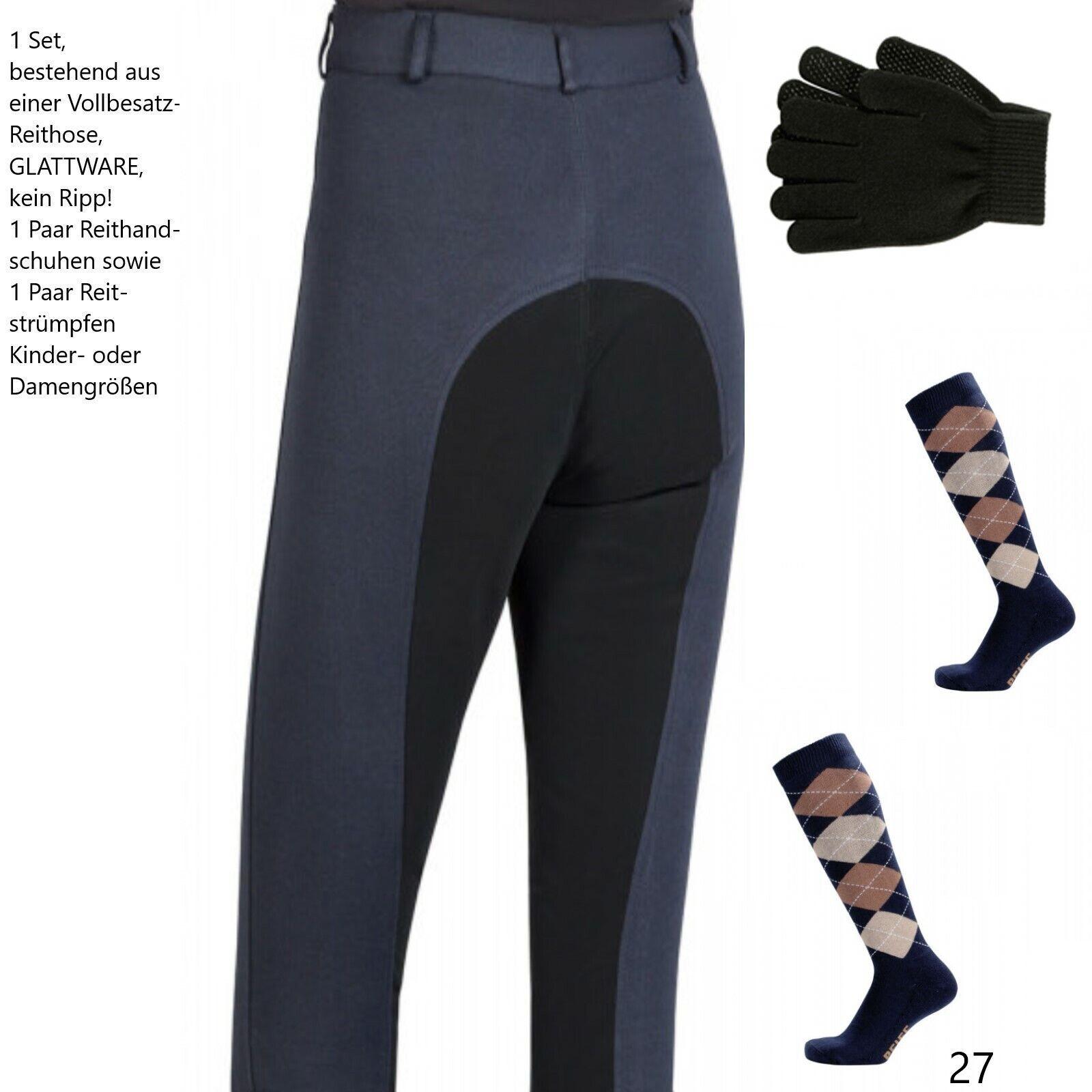 Reiter Outfit Set Damen Vollbesatz Reithose Strümpfe Handschuhe blau Frauen MEGA  | Umweltfreundlich  | Outlet Store Online  | Überlegene Qualität