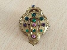 ANTIQUE VICTORIAN GRAND PERIOD PINCHBECK STYLE BROOCH PIN 1870