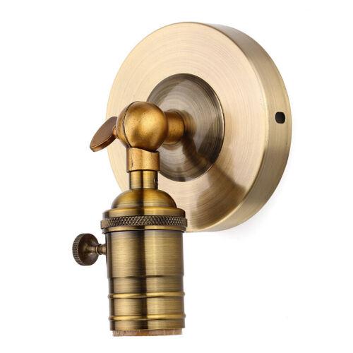 Vintage Applique E27 Industriel Edison Lampe Murale Loft Porche Support Switch