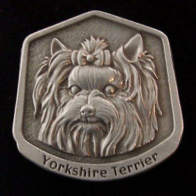 Yorkshire Terrier Yorkie Fine Pewter Dog Breed Ornament