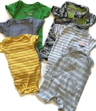 Gently Used Baby Boy's 0-3 Month 3 Month Romper Outfit Clothes Lot One Piece