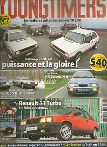 YOUNGTIMERS 7 VW GOLF GTI SIERRA RS COSWORTH R11 TURBO FIAT PANDA CITROEN XM V6.