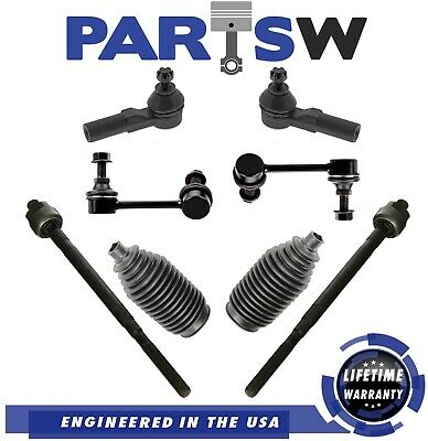 8pc Set Inner Outer Tie Rods Ball Joints Detroit Axle Replacement for Infiniti i30 i35 Nissan Maxima Front Sway Bar Linnks