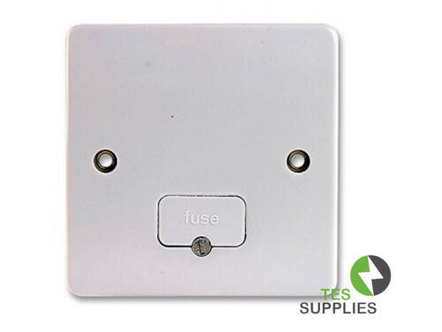 MK Logic Plus 13A Unswitched Fused Connection unit bottom flex K337 WHI White