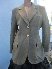 HERBST ESCADA LUXUS TWEED Blazer Jacket Jacke 36/38 Hochzeit Seide Golf Club