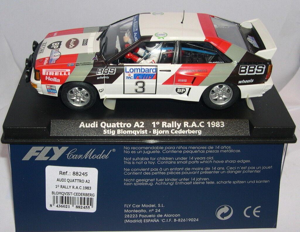 Qq FLY 88245 AUDI QUATTRO A2 1º RALLY R.A.C. 1983 No3 BLOMQUIST - CEDERBERG