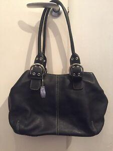 condizioni perfette tracolla in a spessa borsa pelle nera Tignanello Splendida xqzFpt