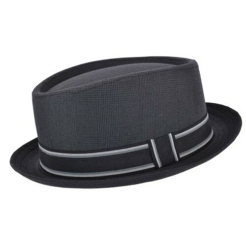 New Unisex Pork Pie Trilby Hat With Band In 4 Colours