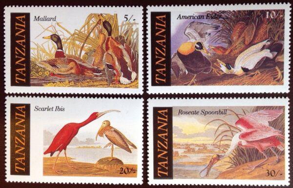 Capable Tanzanie 1985 Audubon Oiseaux Neuf Sans Charnière