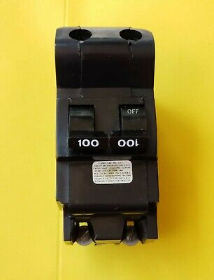 American//Federal Pacific Circuit Breaker 2-Pole 100-Amp Bolt On