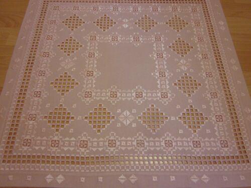Hardanger Handarbeits Decke ca.60x60cm