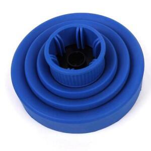 Diffusore-Asciugacapelli-Becco-Silicone-Portatile-Retrattile-Pieghevole-Blu