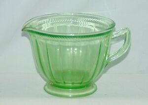 Federal-COLONIAL-ROPE-FLUTED-GREEN-CREAMER